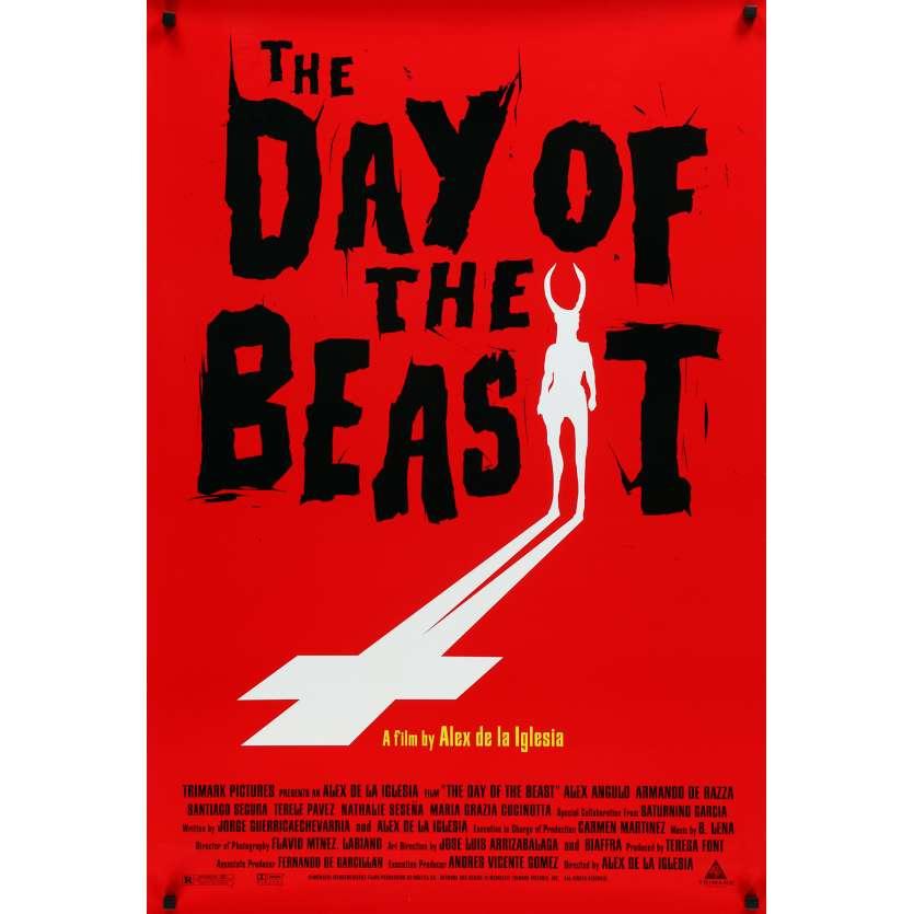 DAY OF THE BEAST Movie Poster - 29x41 in. - 1995 - Alex de la Iglesia, Alex Angulo