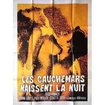 LES CAUCHEMARS NAISSENT LA NUIT Affiche de film - 100x140 cm. - 1972 - Diana Lorys, Jesus Franco