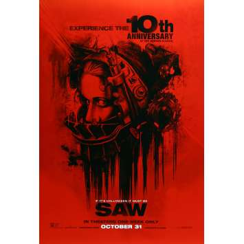 SAW Movie Poster Teaser - 29x41 in. - R2010 - James Wan, Cary Elwes