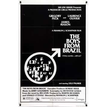 THE BOYS FROM BRAZIL Movie Poster - 29x41 in. - 1978 - Franklin J. Schaffner, Gregory Peck