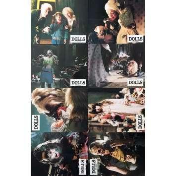 DOLLS Lobby Cards x8 - 9x12 in. - 1987 - Stuart Gordon, Ian Patrick Williams
