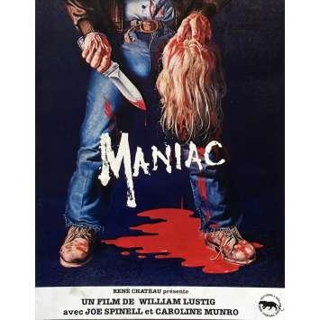 MANIAC Synopsis 4P - 21x30 cm. - 1980 - Joe Spinell, William Lustig