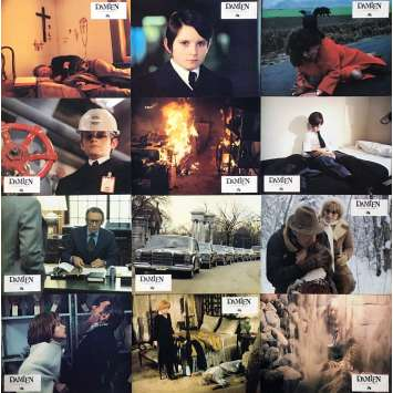 DAMIEN OMEN II Lobby Cards x12, Set A - 9x12 in. - 1978 - Mike Hodges, William Holden