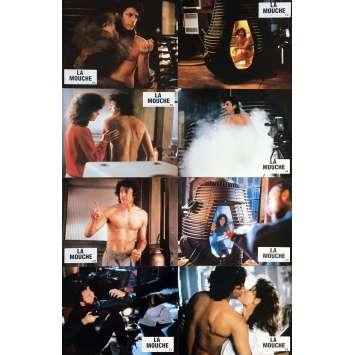 THE FLY Lobby Cards x8 - 9x12 in. - 1986 - David Cronenberg, Jeff Goldblum