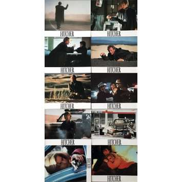 THE HITCHER Lobby Cards x10 - 10x12 in. - 1986 - Robert Harmon, Rutger Hauer