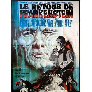 LE RETOUR DE FRANKENSTEIN Affiche de film x8 - 120x160 cm. - 1969 - Peter Cushing, Terence Fisher