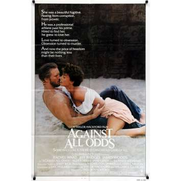 AGAINST ALL ODDS Movie Poster - 29x41 in. - 1984 - Taylord Hackford, Jeff Bridges