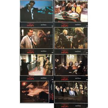 PRIZZI'S HONOR Lobby Cards x8 - 9x12 in. - 1985 - John Huston, Jack Nicholson