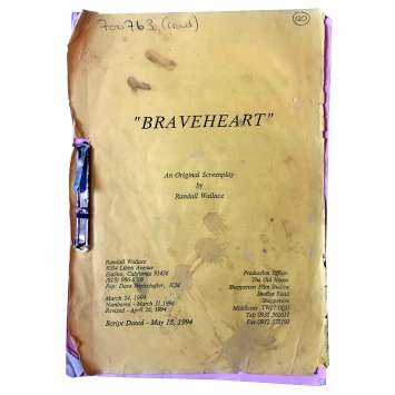 BRAVEHEART Scénario du film - 1995 - Mel Gibson, Patrick McGoohan