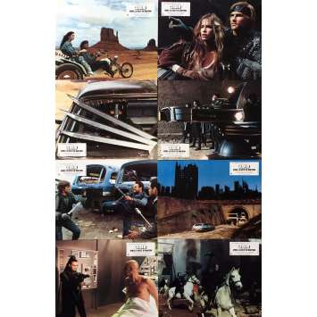 2019 AFTER THE FALL OF NEW-YORK Original Lobby Cards x8 - 9x12 in. - 1983 - Sergio Martino, George Eastman