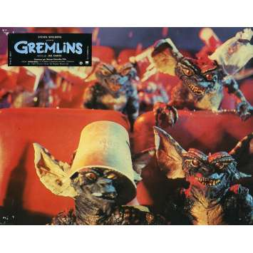 GREMLINS Original Lobby Card N01 - 9x12 in. - 1984 - Joe Dante, Zach Galligan