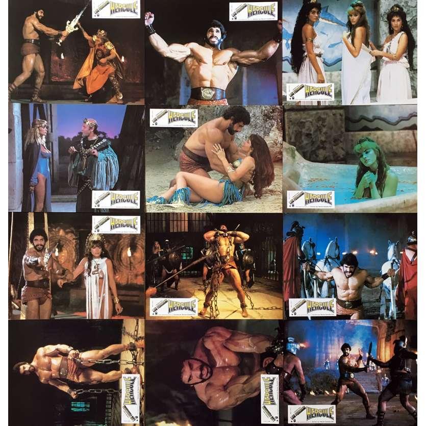 HERCULES Original Lobby Cards x12 - 9x12 in. - 1983 - Luigi Cozzi, Lou Ferrigno