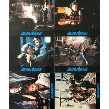 HIGHLANDER Original Lobby Cards x6 - 10x12 in. - 1985 - Russel Mulcahy, Christophe Lambert