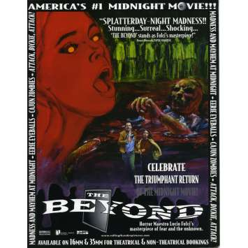 THE BEYOND Original Herald - 8x10 in. - R1990 - Lucio Fulci, Catriona MacColl