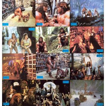 THE BARBARIANS Original Lobby Cards x12 - 9x12 in. - 1987 - Ruggero Deodato, David Paul