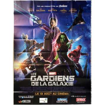LES GARDIENS DE LA GALAXIE Affiche de film - 120x160 cm. - 2014 - Chris Pratt, James Gunn