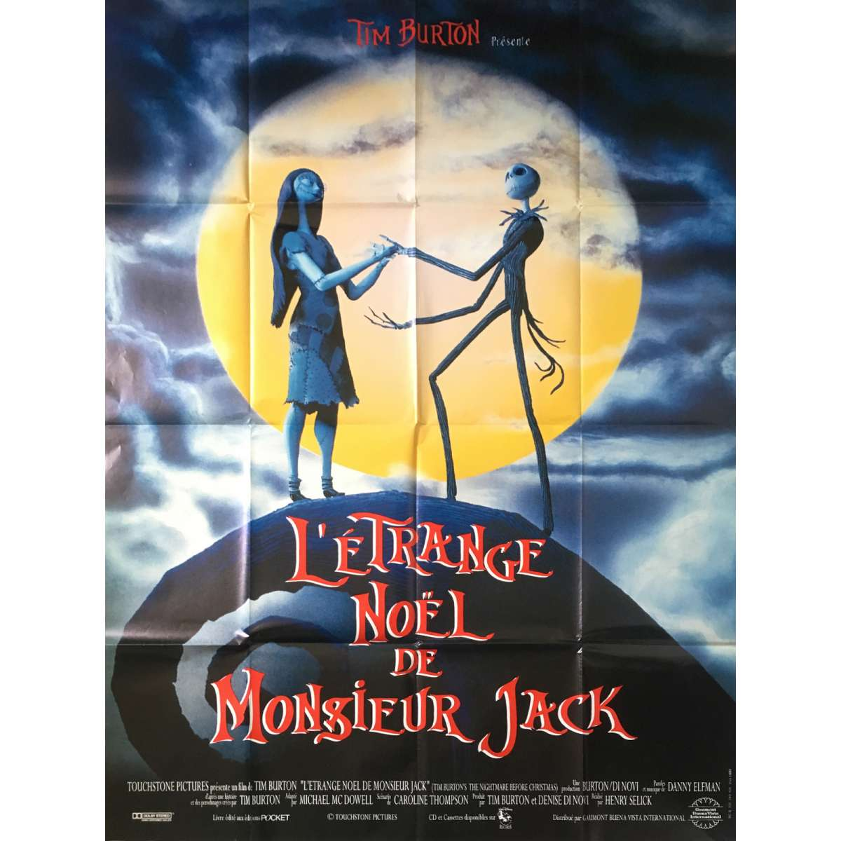 THE NIGHTMARE BEFORE CHRISTMAS Movie Poster 47x63 in.