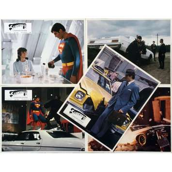 SUPERMAN 2 Original Lobby Cards x5 - 9x12 in. - 1977 - Richard Donner, Christopher Reeves