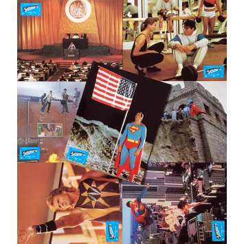 SUPERMAN IV Original Lobby Cards x7 - 9x12 in. - 1987 - Sidney J. Furie, Christopher Reeve
