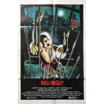 HELL NIGHT Original Movie Poster - 29x41 in. - 1981 - Tom DeSimone, Linda Blair