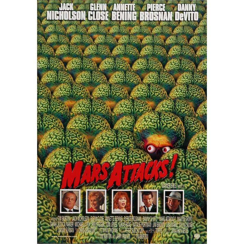 MARS ATTACKS Original Program - 9x12 in. - 1996 - Tim Burton, Jack Nicholson