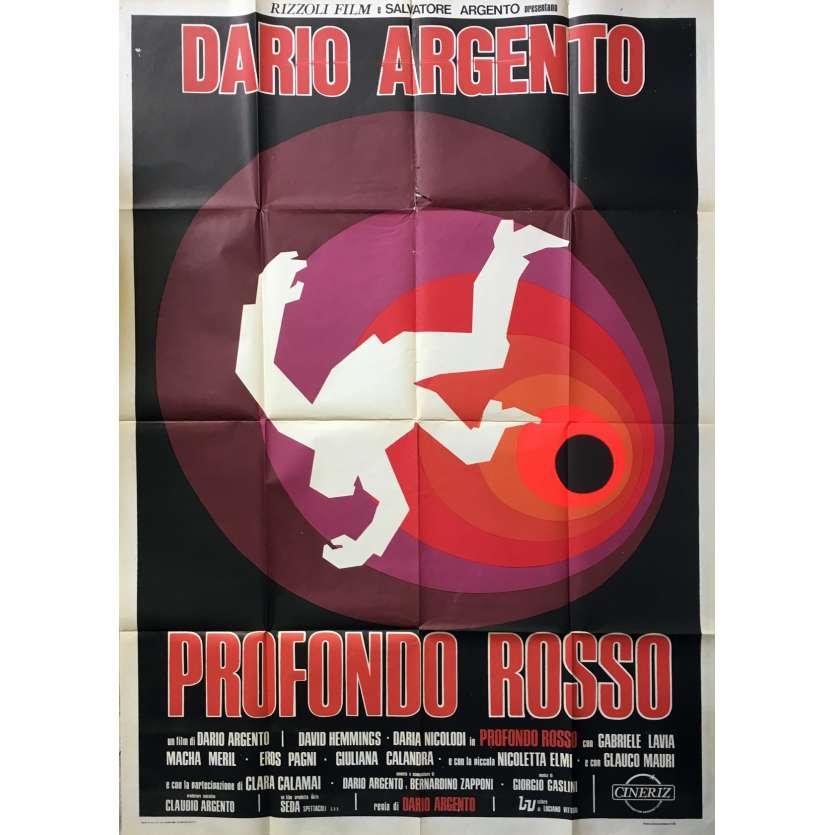 LES FRISSONS DE L'ANGOISSE Affiche Italienne ORIGINALE 100x140 - 1975 - Argento, Profondo Rosso