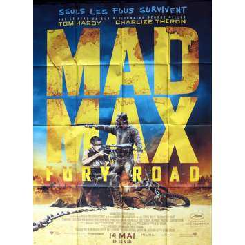 MAD MAX FURY ROAD French Movie Poster - 47x63 - 2015 - Tom Hardy