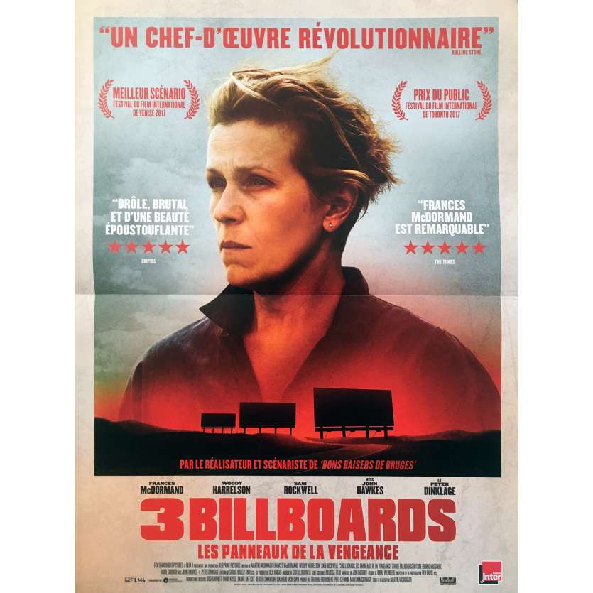 3 BILLBOARDS Affiche de film - 40x60 cm. - 2017 - Frances McDormand, Martin McDonagh