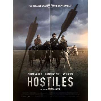 HOSTILES Original Movie Poster - 15x21 in. - 2018 - Scott Cooper, Christian Bale