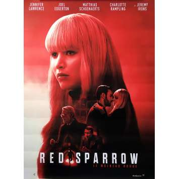 RED SPARROW Original Movie Poster - 15x21 in. - 2018 - Francis Lawrence, Jennifer Lawrence