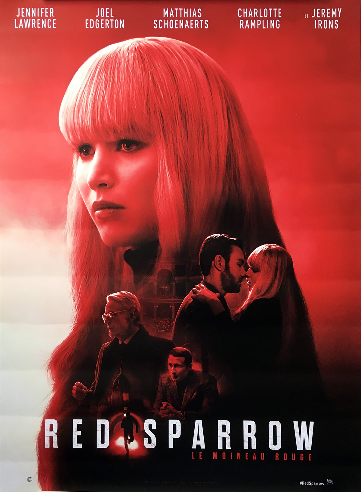 Red Sparrow Movie Poster 15x21 In