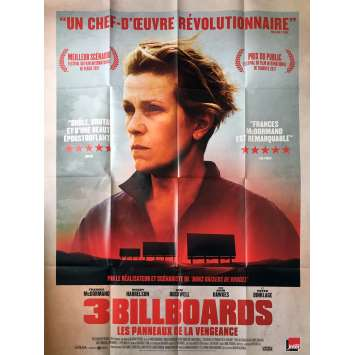 3 BILLBOARDS Affiche de film - 120x160 cm. - 2017 - Frances McDormand, Martin McDonagh