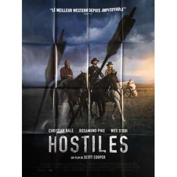 HOSTILES Original Movie Poster - 47x63 in. - 2018 - Scott Cooper, Christian Bale
