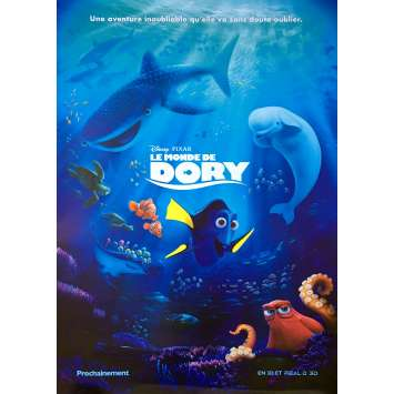 FINDING DORY Original Movie Poster - 28x40 in. - 2016 - Andrew Stanton, Ellen DeGeneres