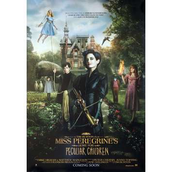 MISS PEREGRINE Original Movie Poster DS - 29x41 in. - 2016 - Tim Burton, Eva Green