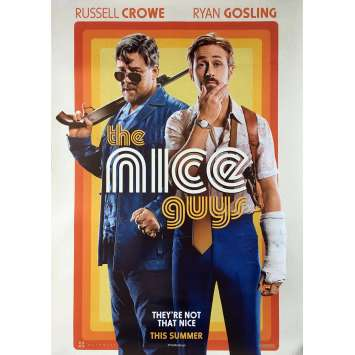 THE NICE GUYS Original Movie Poster - 28x40 in. - 2016 - Shane Black, Russell Crowe