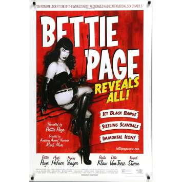 BETTIE PAGE REVEALS ALL Original Movie Poster DS - 27x40 in. - 2012 - Mark Mori, Bettie Page