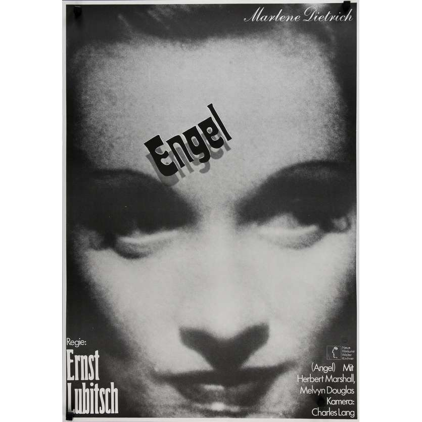L'ANGE BLEU Affiche de film - 59x84 cm. - R1970 - Marlene Dietrich, Josef von Sternberg