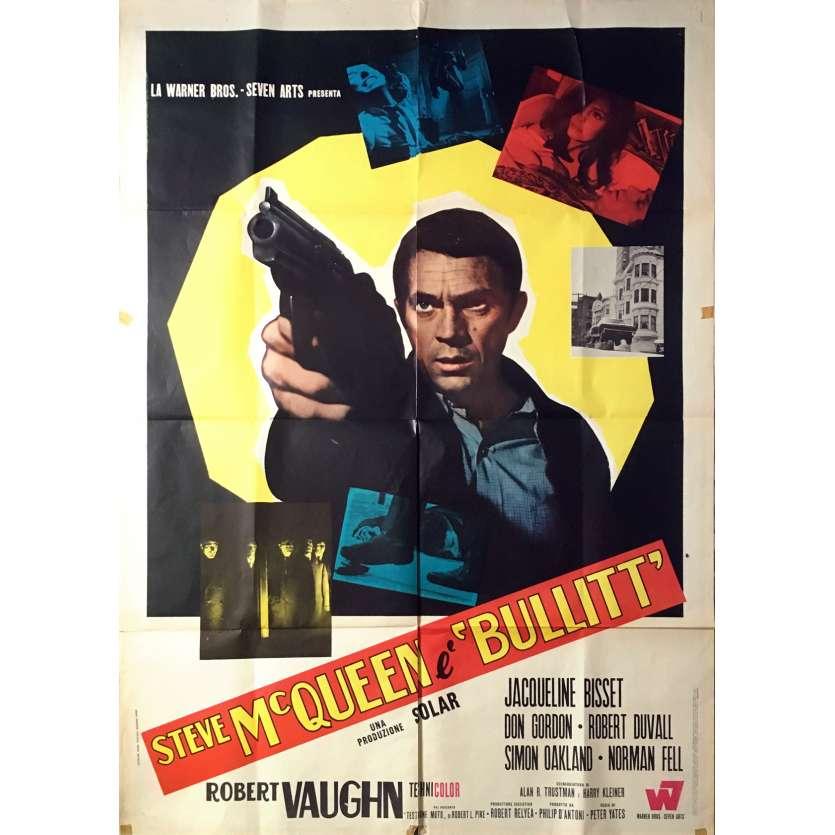 BULLITT Affiche de film - 100x140 cm. - 1968 - Steve McQueen, Peter Yates