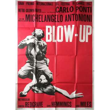 BLOW UP Original Movie Poster - 39x55 in. - R1970 - Michelangelo Antonioni, David Hemmings