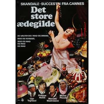 THE BIG FEAST Original Movie Poster - 23x33 in. - 1973 - Marco Ferreri, Marcello Mastroianni