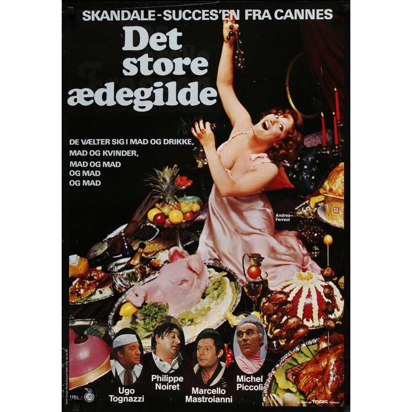 LA GRANDE BOUFFE Affiche de film - 59x84 cm. - 1973 - Marcello Mastroianni, Marco Ferreri