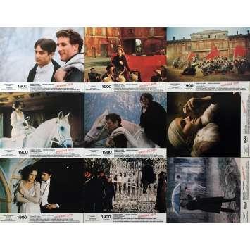 1900 Photos de film x9 - 21x30 cm. - 1976 - Robert de Niro, Bernardo Bertolucci