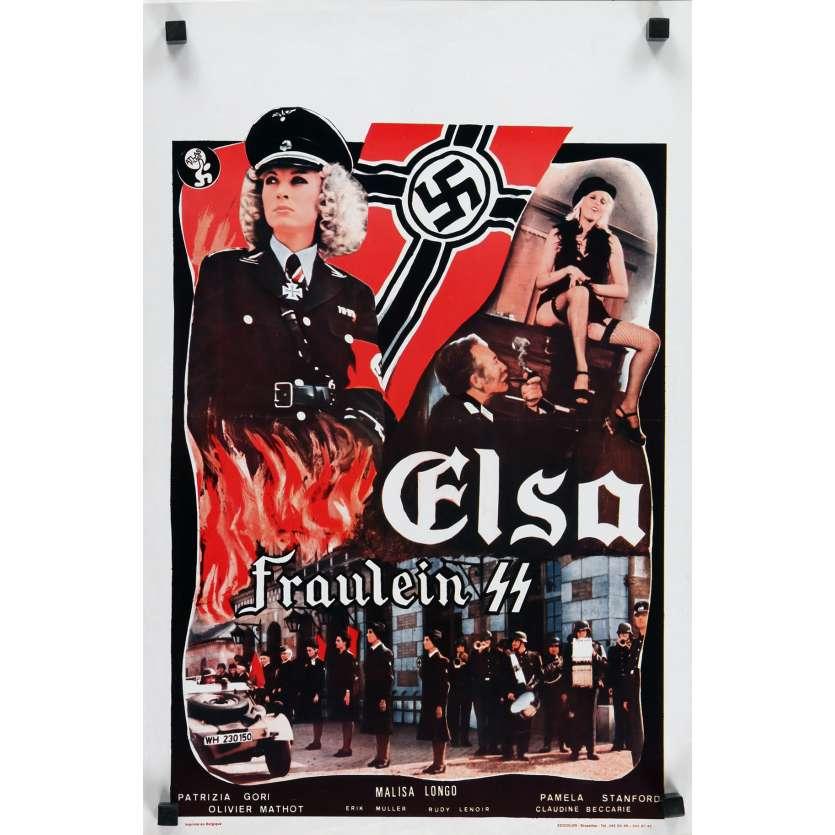 ELSA FRAULEIN SS Affiche de film - 35x55 cm. - 1977 - Malisa Longo, Patrice Rhomm