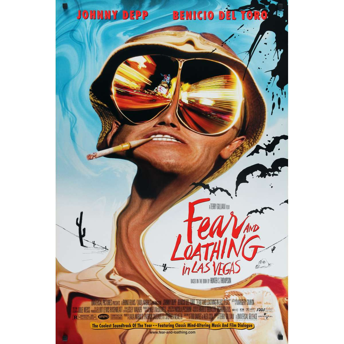 fear and loathing in las vegas movie poster 27x40 in