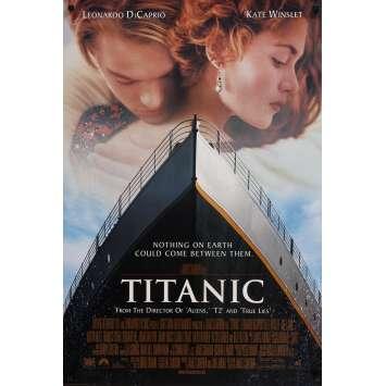 TITANIC Affiche de film Style Inter. A - 69x102 cm. - 1997 - Leonardo DiCaprio, James Cameron