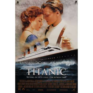 TITANIC Affiche de film Style Inter. B - 69x102 cm. - 1997 - Leonardo DiCaprio, James Cameron