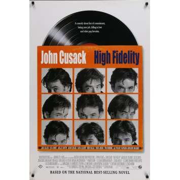 HIGH FIDELITY Affiche de film US - 2000 - Cusack, Frears, Nick Hornby