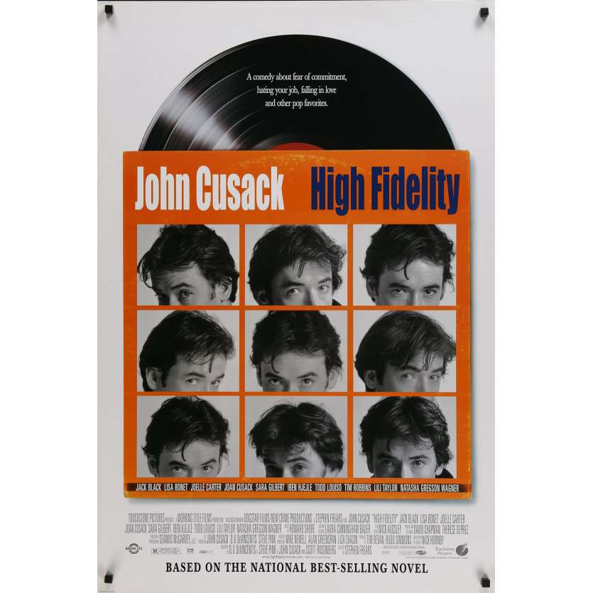HIGH FIDELITY Affiche de film US - 2000 - Cusack, Frears, Nick Hornby