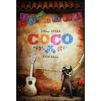 COCO Original Movie Poster Advance - 27x40 in. - 2017 - Pixar, Anthony Gonzales